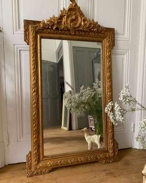 Grand miroir de cheminée.