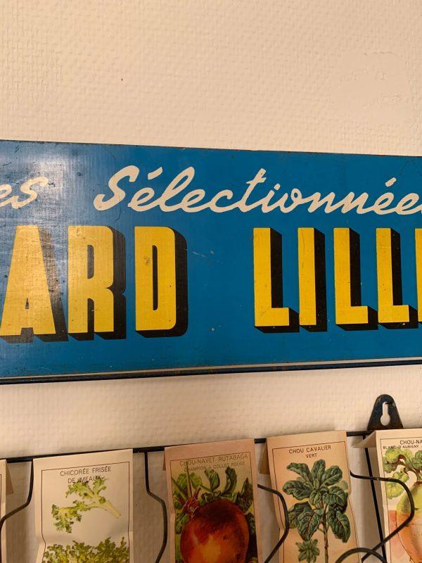 ancien présentoir à graines leonard lille vintage