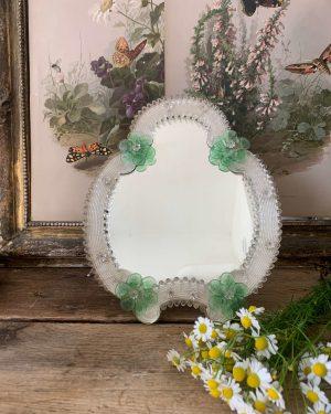 ancien miroir en verre de murano ancien