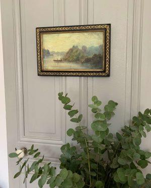 ancienne peinture à l'huile sur toile paysage à Verdun