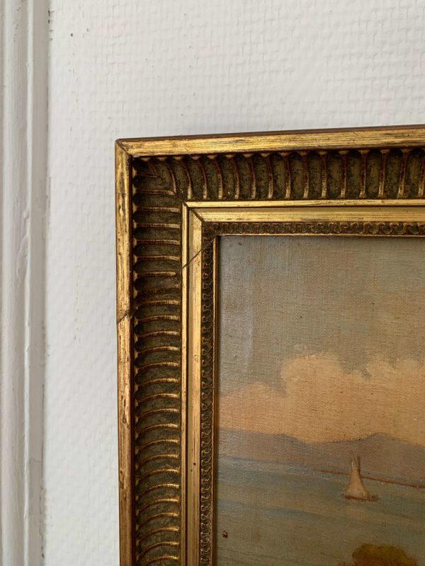 ancienne peinture à l'huile ancienne paysage