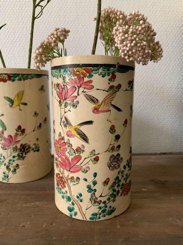 paire de vases rouleau satsuma fin 19eme japon