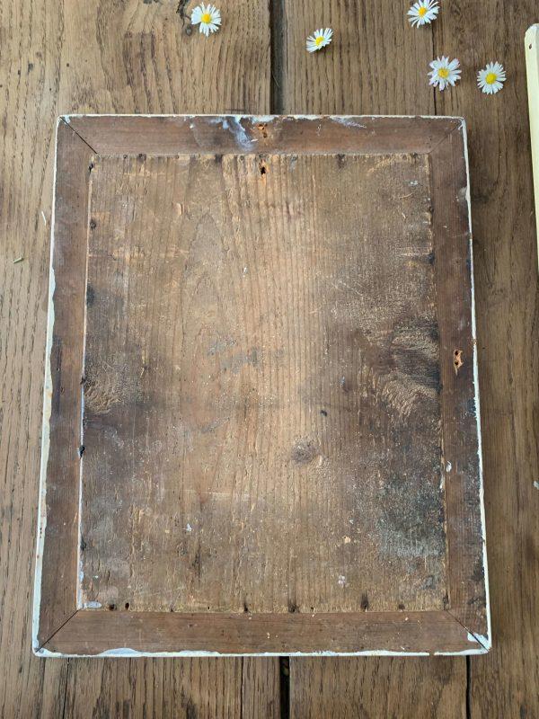 ancien miroir en bois au mercure 1900