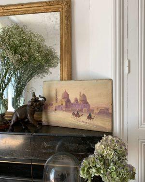 ancienne peinture orientaliste huile sur toile