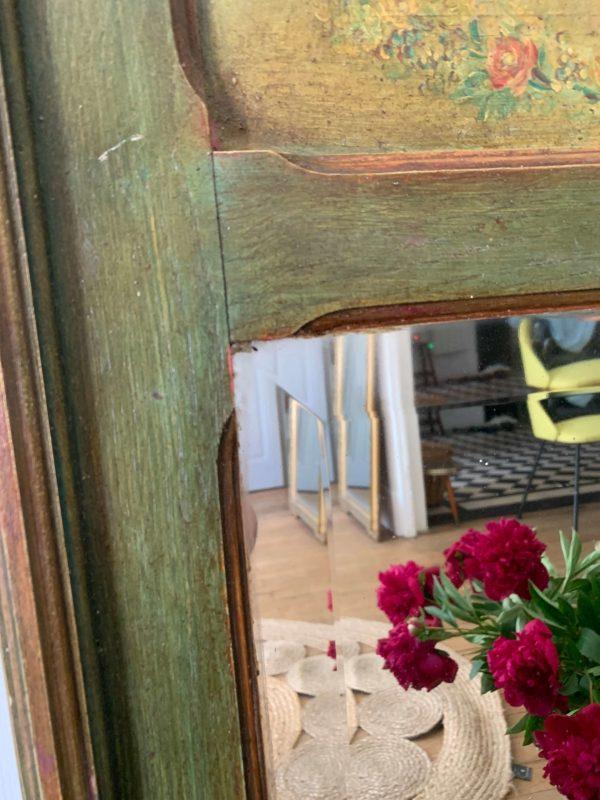ancien miroir trumeau début 20ème peinture anges