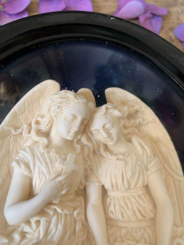 cadre napoleon 3 ANGES ANCIEN PLATRE