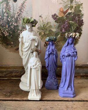 statuettes anciennes en platre