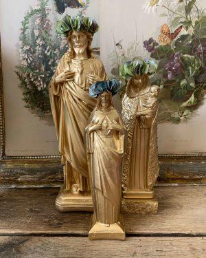 ancienne statuette sacre coeur