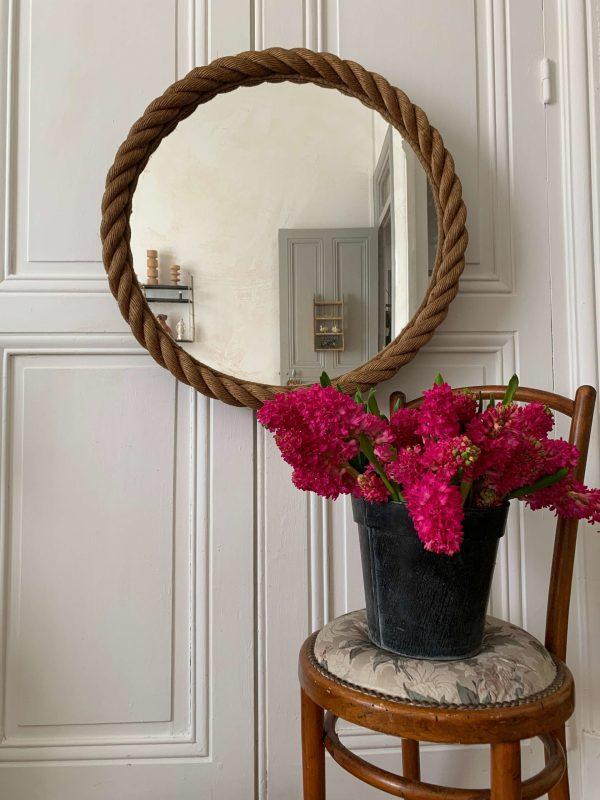 ancien miroir cordes audoux minet vintage style
