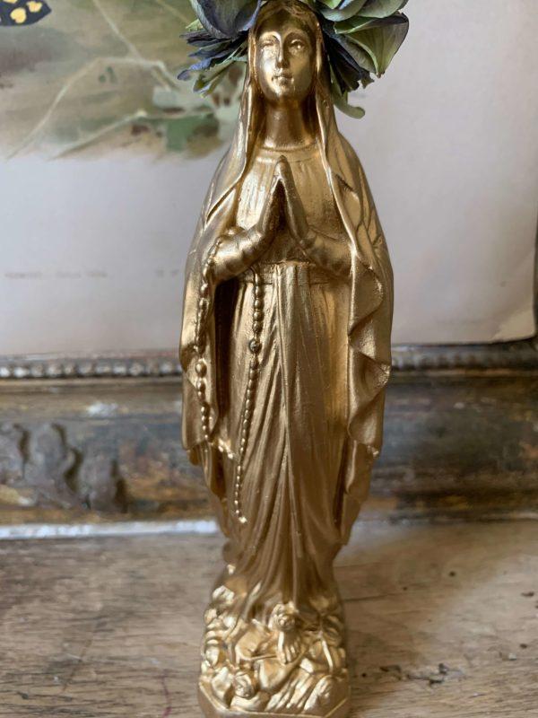 ancienne vierge en platre