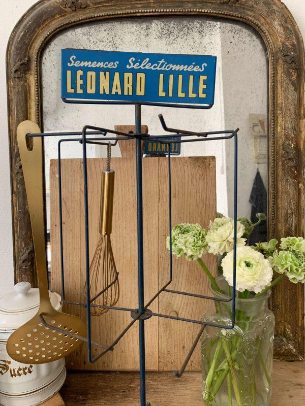 ancien présentoir vintage leonard lille
