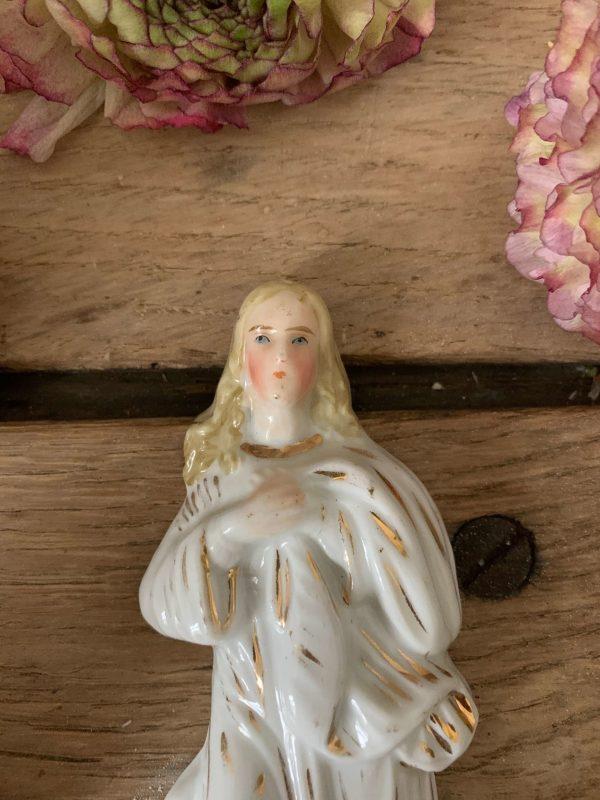 ancien benitier ange porcelaine de paris