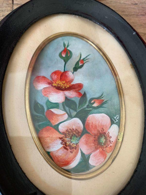 ancienne aquarelle dans cadre napoleon 3