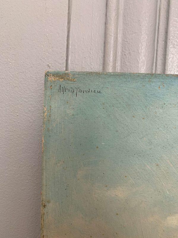 ancienne peinture à l'huile paysage