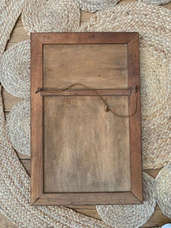 ancien miroir art déco hirondelles en bois