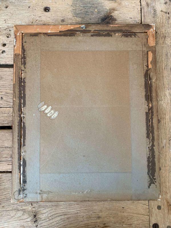 ancienne gravure fleurs cadre miroir