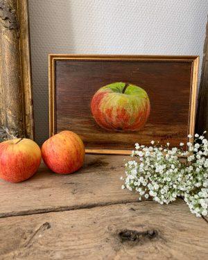 ancienne peinture à l'huile pomme