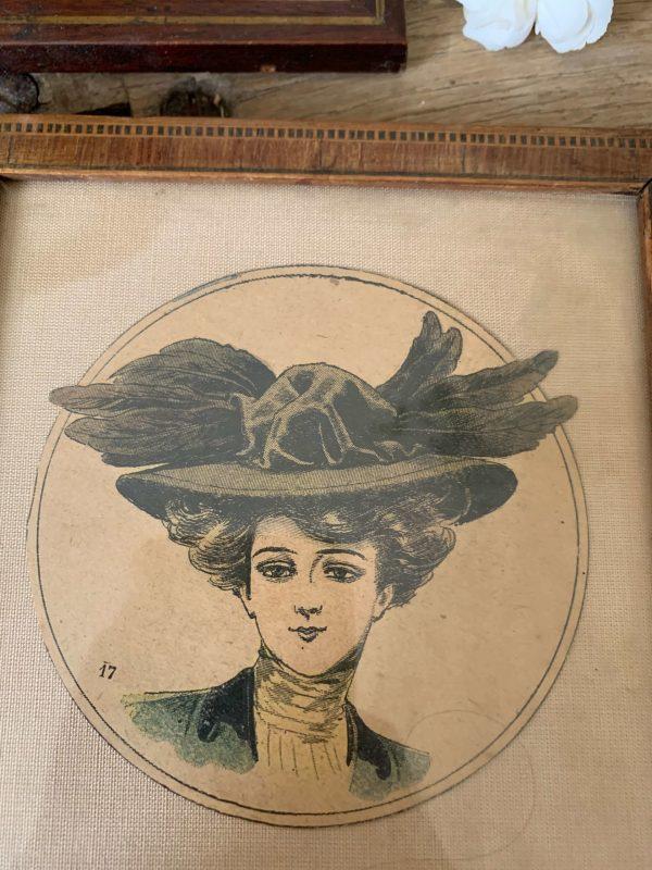 ancienne illustration la mode illustrée fin 19eme debut 20ème cadres anciens
