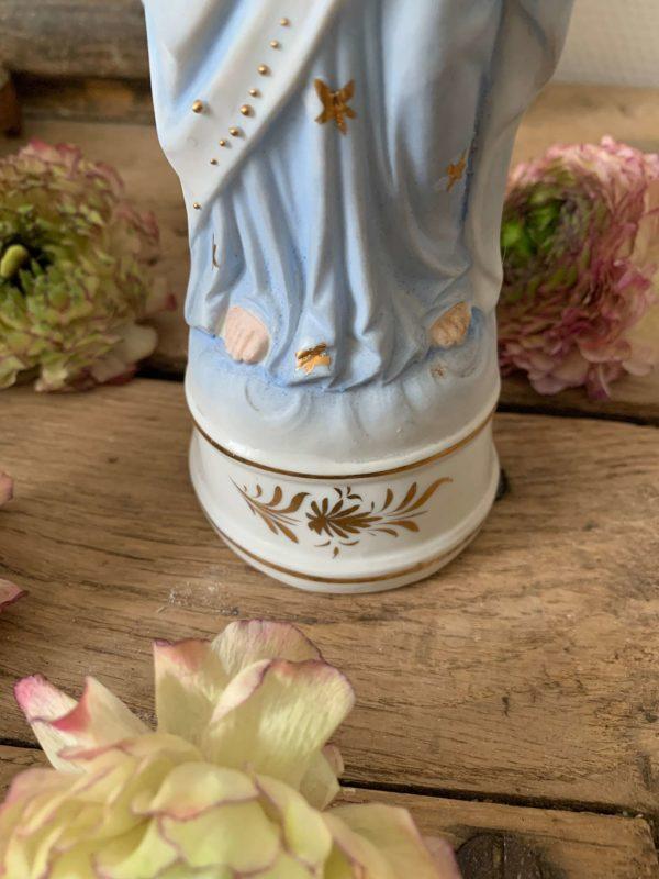 ancienne statue jesus sacre coeur en biscuit