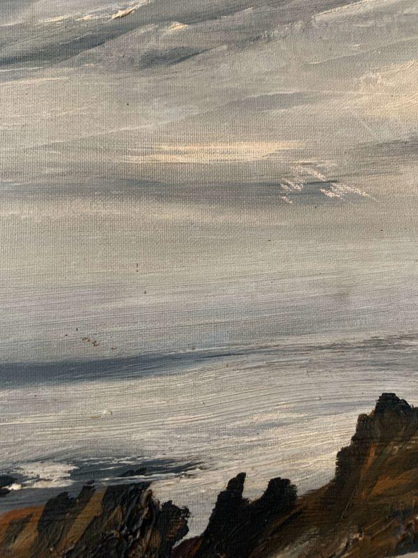 ancienne toile bord de mer
