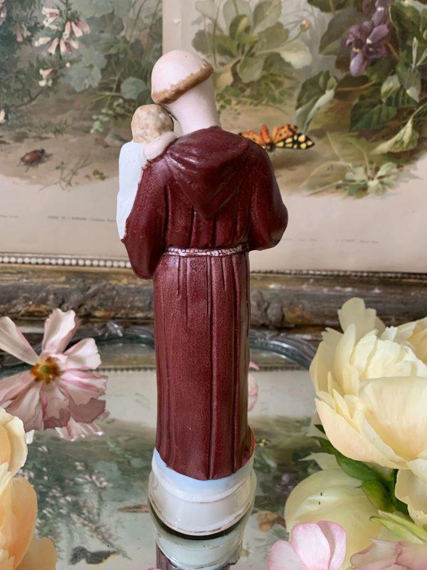 statuette saint antoine de padoue biscuit