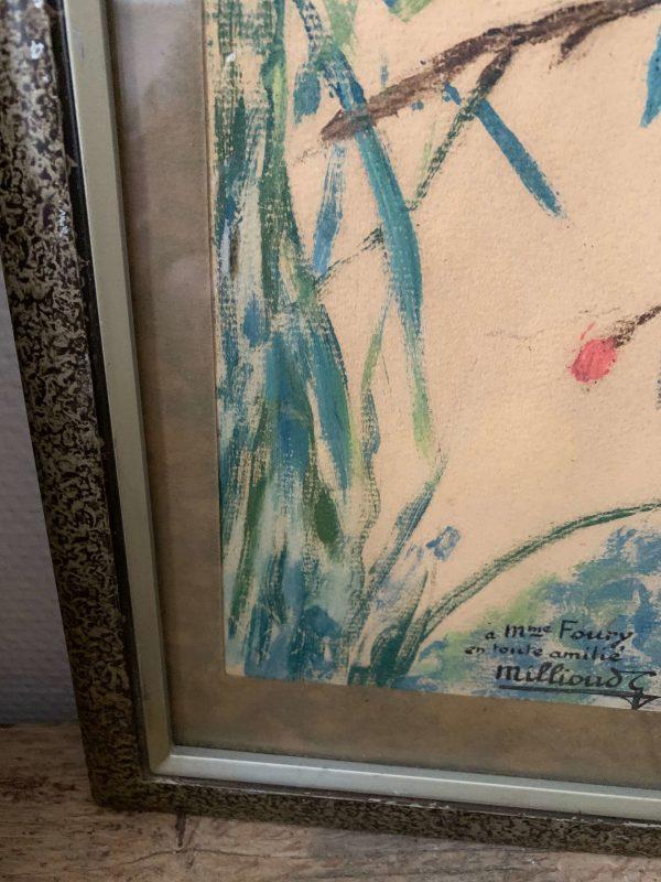 ancienne peinture de perroquet par gabrielle millioud melay