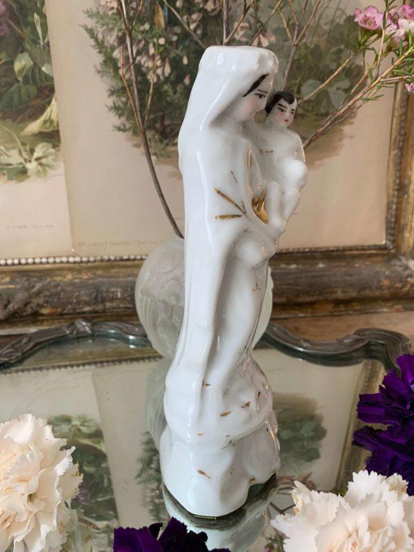 ancienne statuette en porcelaine de paris xixeme