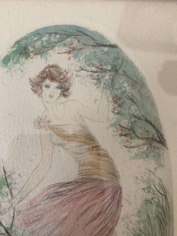 ancienne gravure art deco