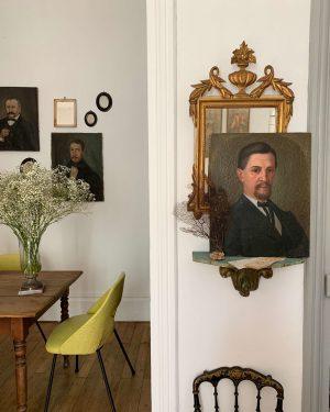 ancien portrait homme huile sur toile xixeme