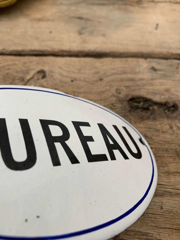 ancienne plaque émaillée bureau