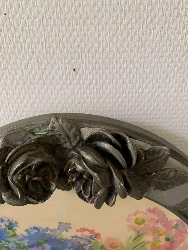 ancienne peinture de fleurs aquarelle cadre fleurs roses