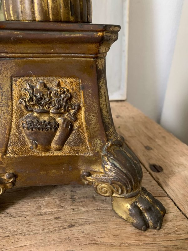 ancien pique cierge en laiton coeur sacrés xixeme