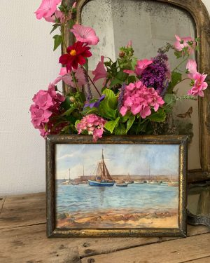 ancienne aquarelle marine debut xxeme