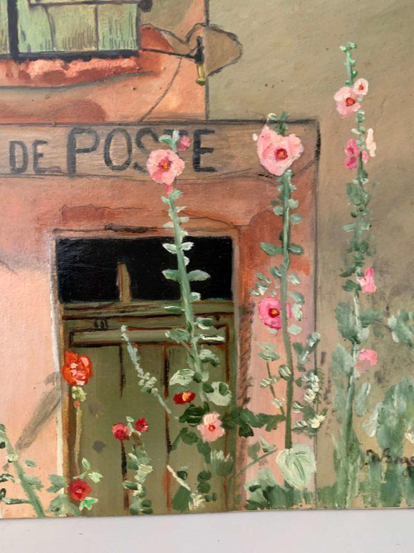 peinture huile ancienne