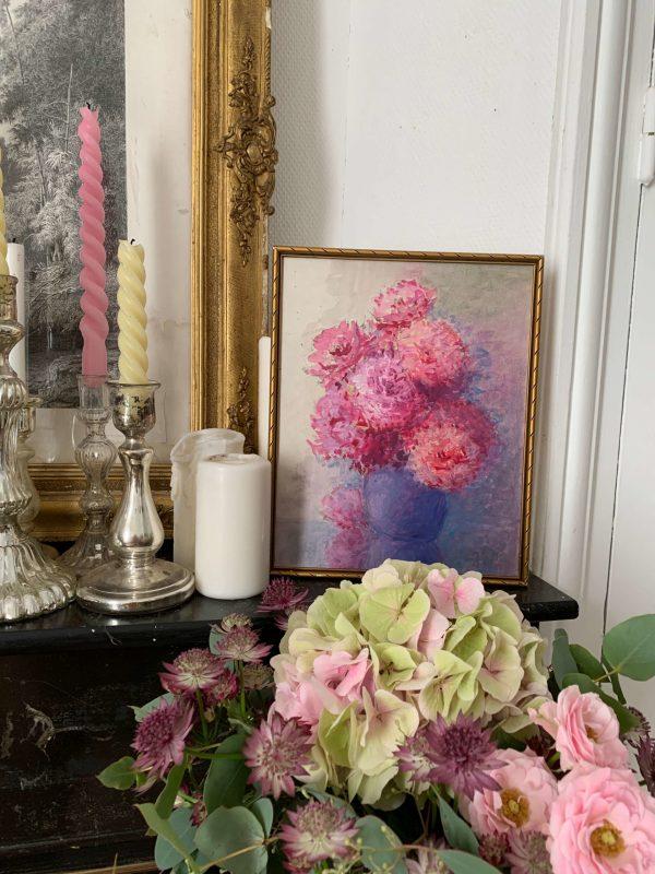 ancienne aquarelle de fleurs marguerite beauzée reynaud