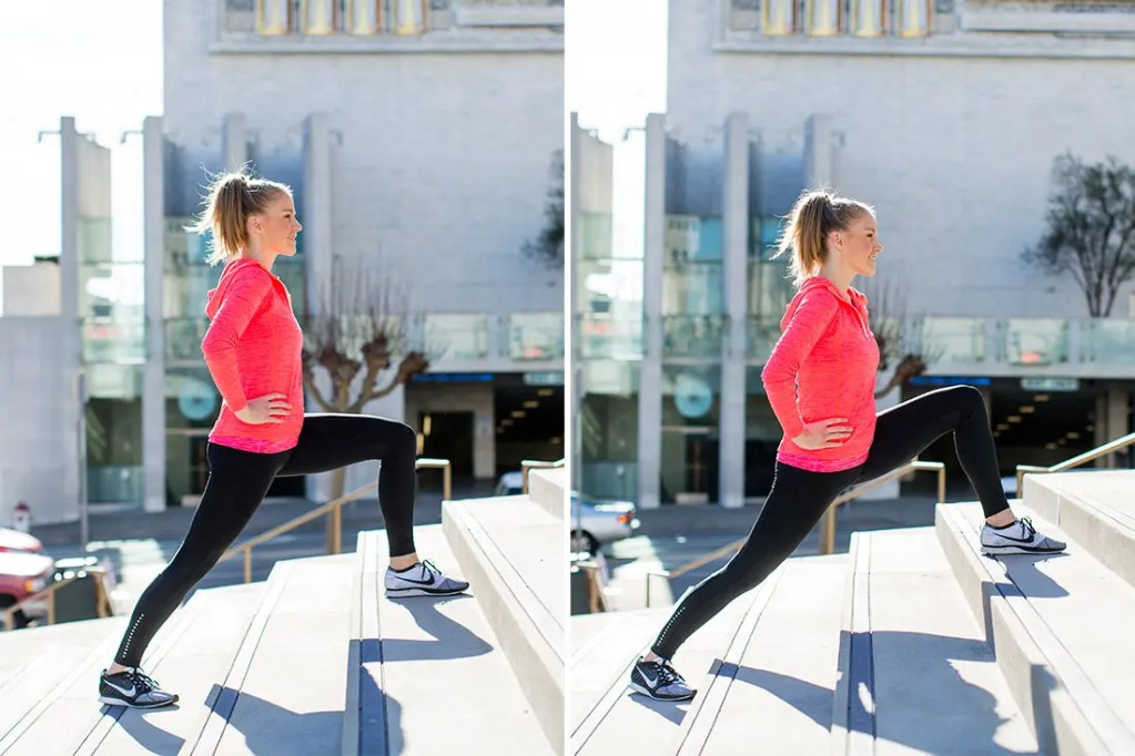 Step ups and/or stair lunges