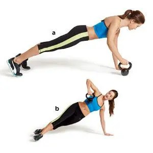 Side Plank Rows