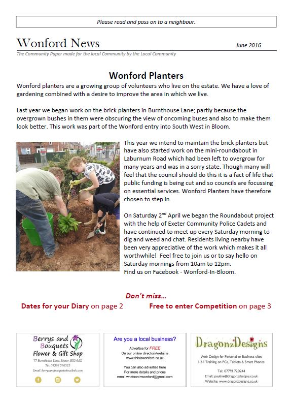 wonford news cover June 2016