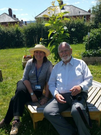 Royal Horticultural Society Judge with Staff member from the school