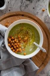 Cauliflower spinach soup