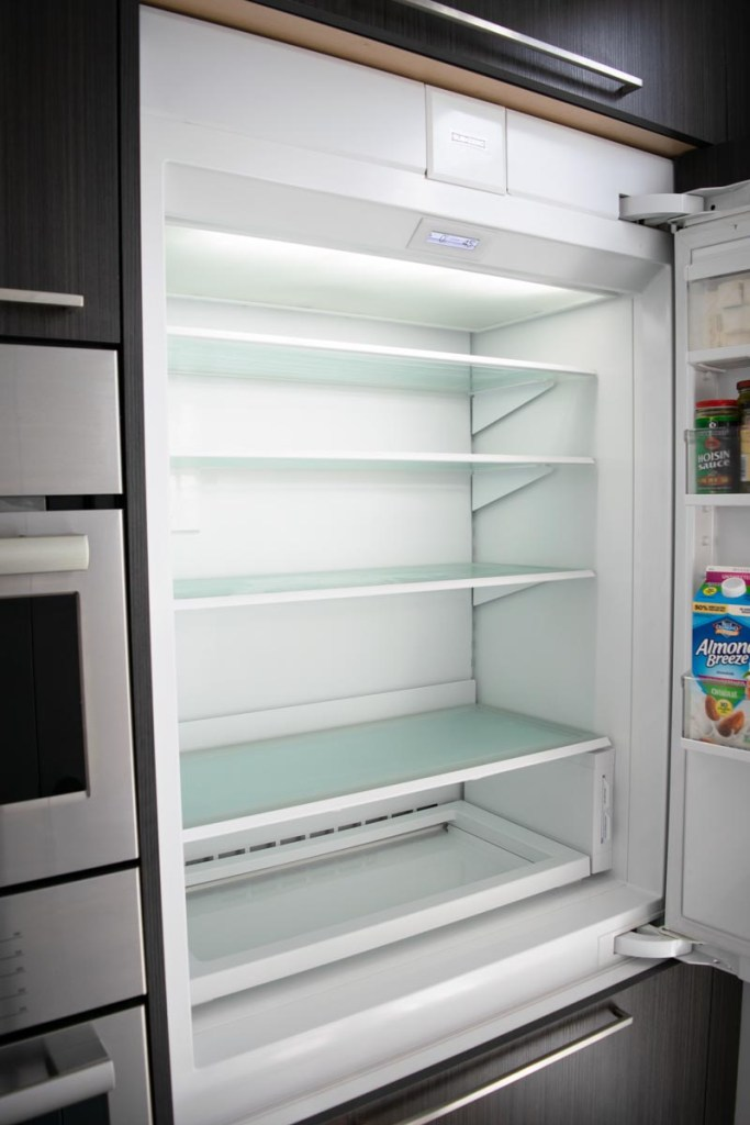 A clean and empty fridge