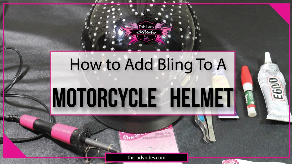 Crystal Helmet Designs- How to BLING Your Motorcycle helmet.
