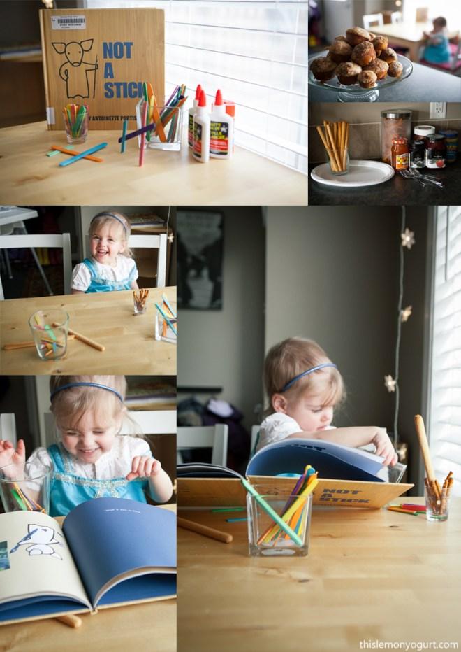 Baby Book Club- Not a Stick {this lemon yogurt}