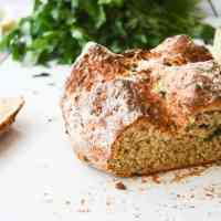 Garlic & Parmesan Soda Bread