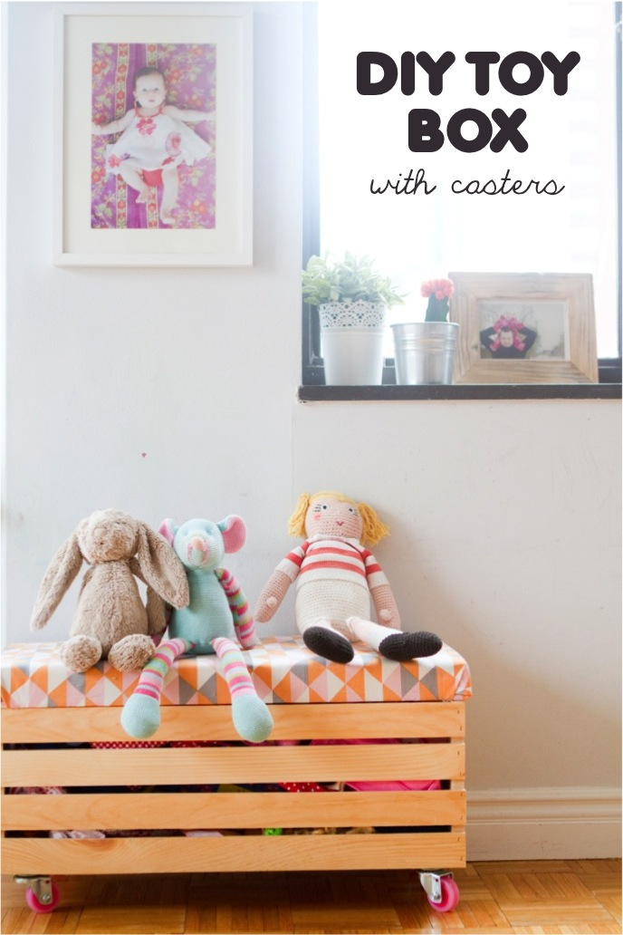Rock It Yourself Diy Toy Box With Casters This Little