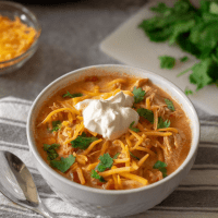 Creamy Chicken Taco Soup | Keto, Instant Pot
