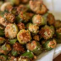 Low Carb Fried Okra