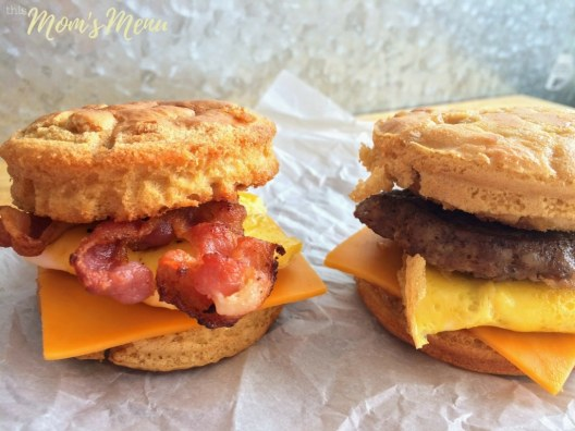 Pancakes, syrup, bacon, eggs and cheese come together in perfect harmony in this recipe for homemade McGriddle Sandwiches. This low carb twist on the quintessential fast food breakfast sandwich is pure perfection. What could possibly be better than an entire American breakfast all wrapped up in one sandwich, with only 2 net carbs?? #keto #lowcarbbreakfast