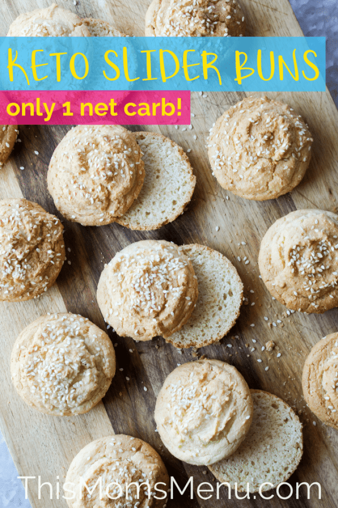 These Keto friendly Hamburger Buns are super easy, low in carbs and will make a great addition to your summer cook outs! They have an amazing flavor that stands up well no matter what toppings you throw at them! #ketorecipes #lowcarbbread