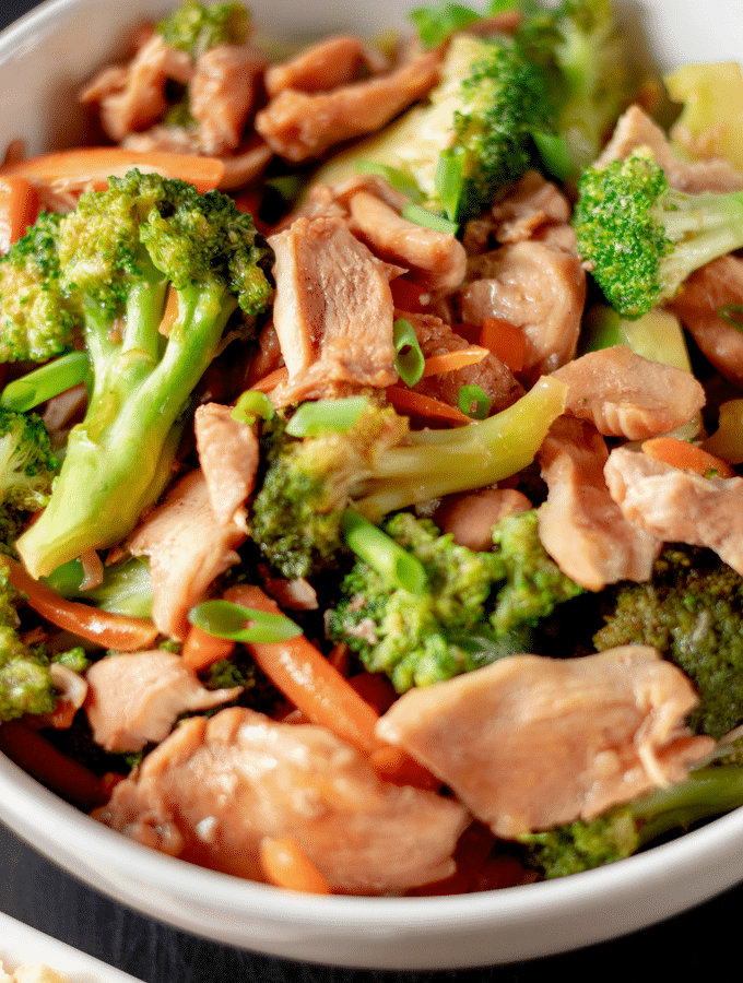 Keto friendly Homemade Chinese chicken and broccoli
